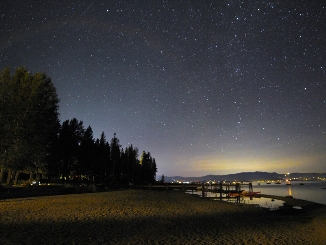Lake Tahoe is full of scenic spots for stargazing.