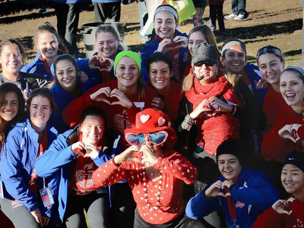 Participants of the 2014 DC Heart Walk show their love for the cause.