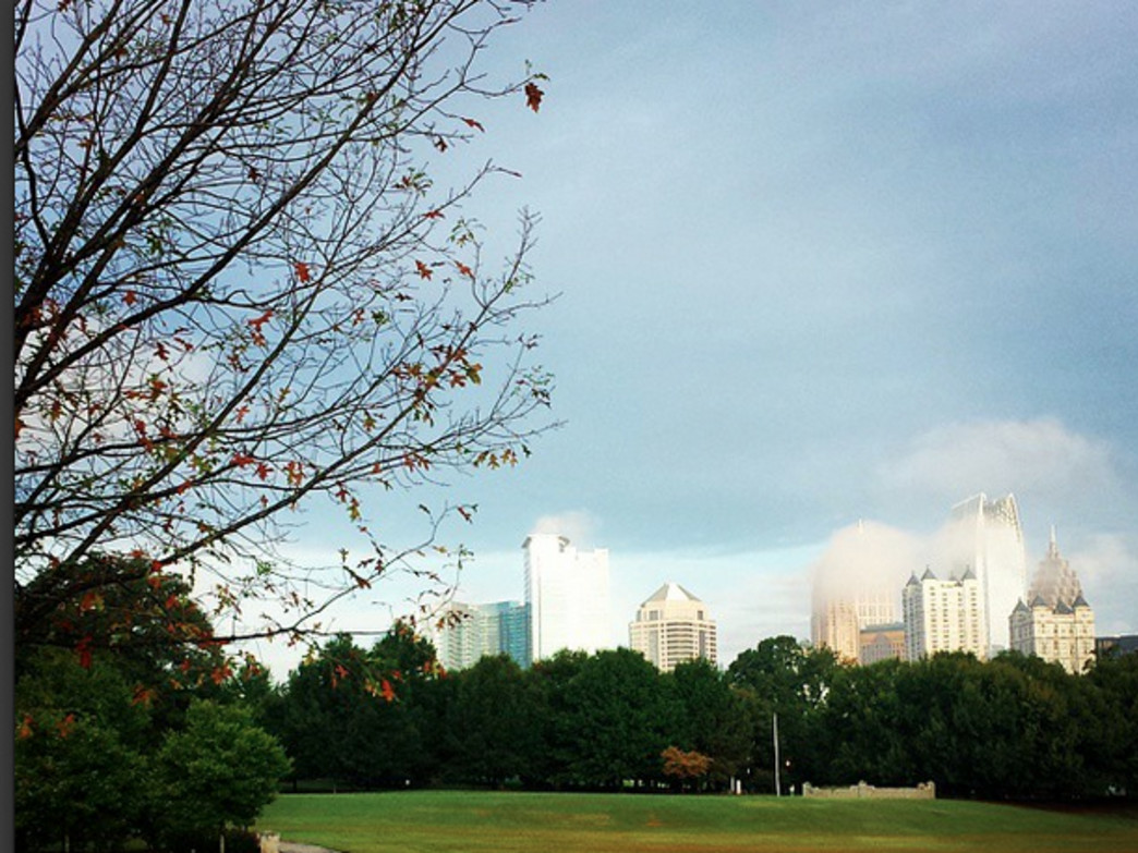 Piedmont Park from the Lower Meadow.