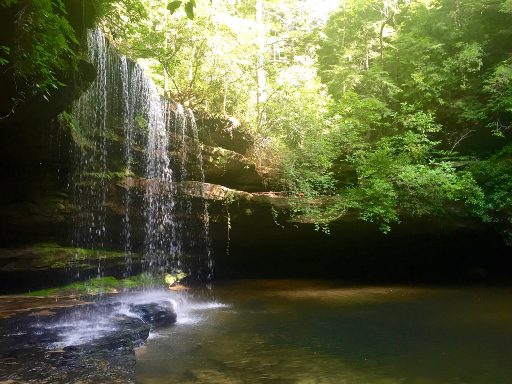Caney Creek Falls is well worth the 1.5-mile hike from County Road 2 outside Double Springs.