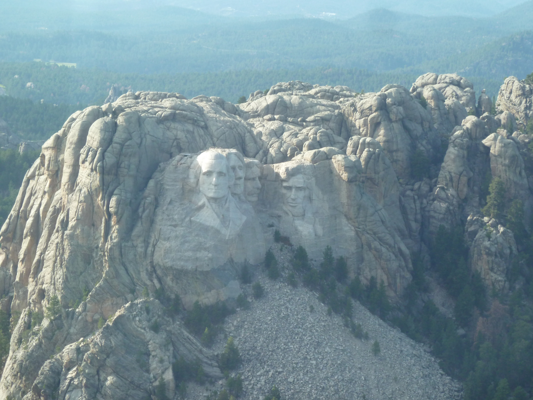 An aerial view of Mt. Rushmore thanks to a ride from Black Hills Aerial Adventures.