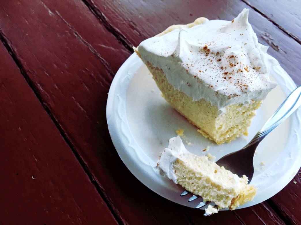You can't beat a slice of fresh cinnamon cream pie.