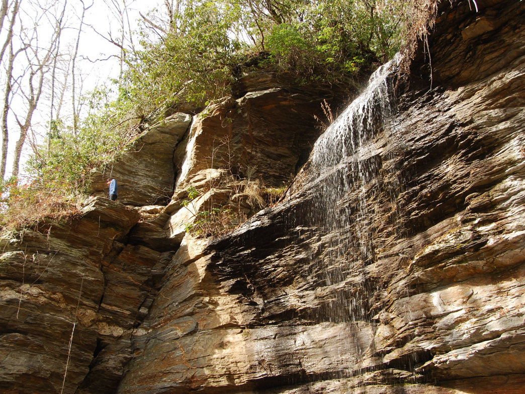 A hike to Moore Cove Falls can be done any time of the year.
