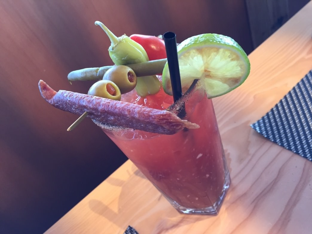 A Bloody Caesar at Christine's is like a meal in itself.