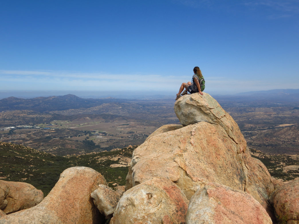 Soaking in the views from El Cajon Mountain.