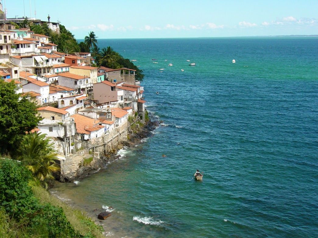 The coastline near Salvador features beautiful beaches and fishing villages.