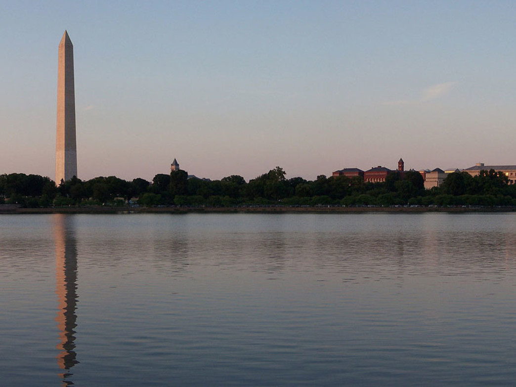 Views of national pride encompass you at the DC Tidal Basin