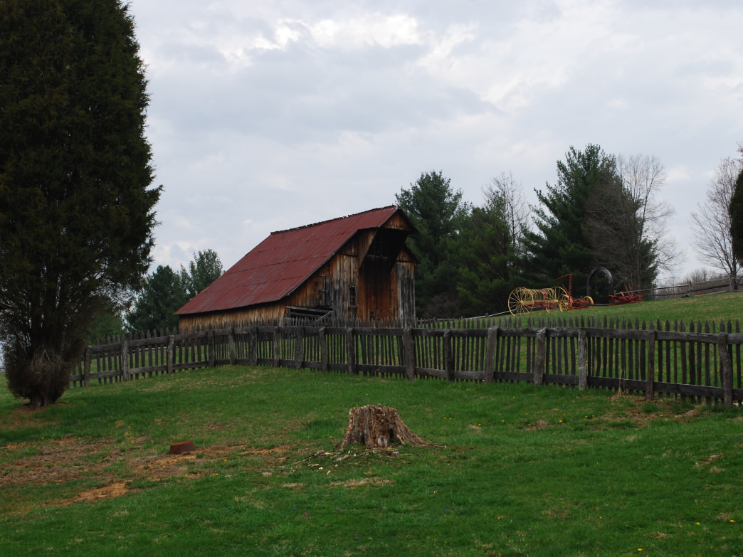 The trails at Watters Smith take you past the original farm buildings that stood on the farm in the late 1700s.