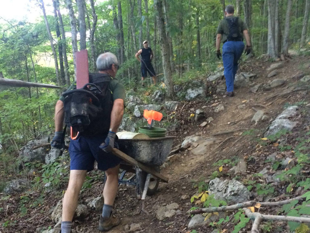 The Huntsville chapter of the Southern Off-Road Biking Association is responsible for most of the trail maintenance in the area.