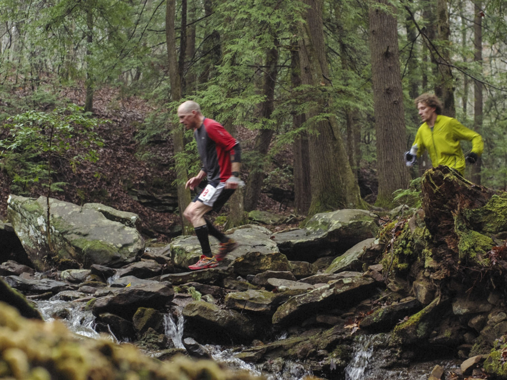 Runners at the Rock/Creek River Gorge Trail Race
