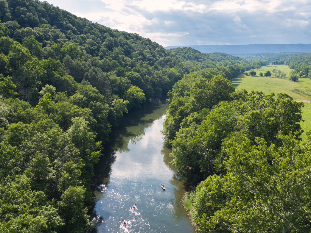All levels of paddlers will enjoy paddling down the North Fork of the Shenandoah River.