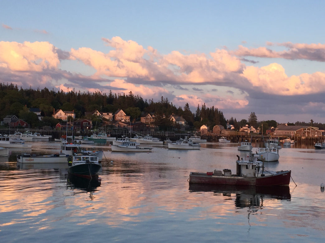 There is a ferry service available to many of the islands off the coast of Maine, such as Vinalhaven Island.