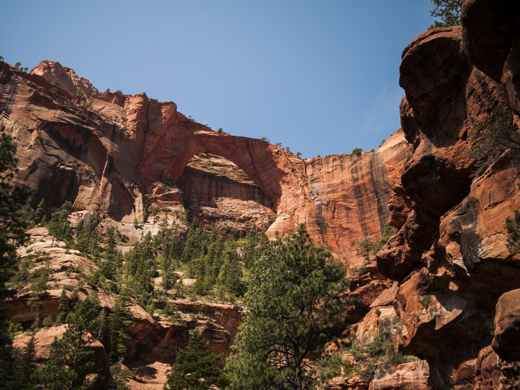 A look at Kolob Arch in Zion National Park, Utah.