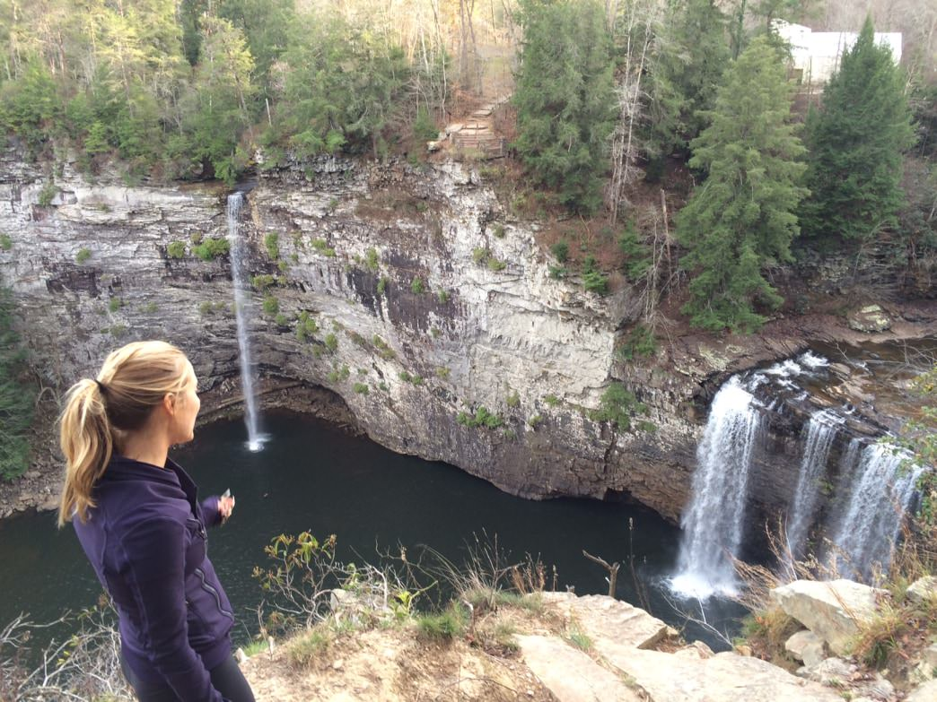 Early winter waterfall-viewing at Rockhouse and Cane Creek Falls in Fall Creek Falls State Park