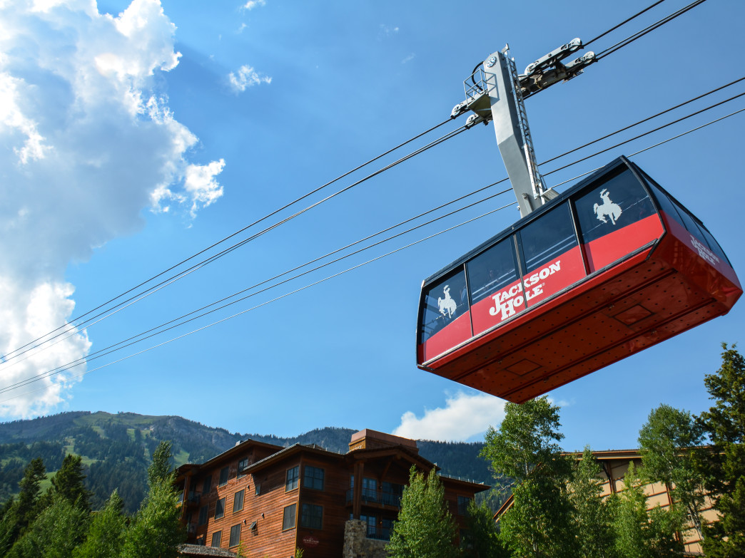 Get ready to ride the first box to the top of Rendezvous Mountain on the Jackson Hole Aerial Tram.