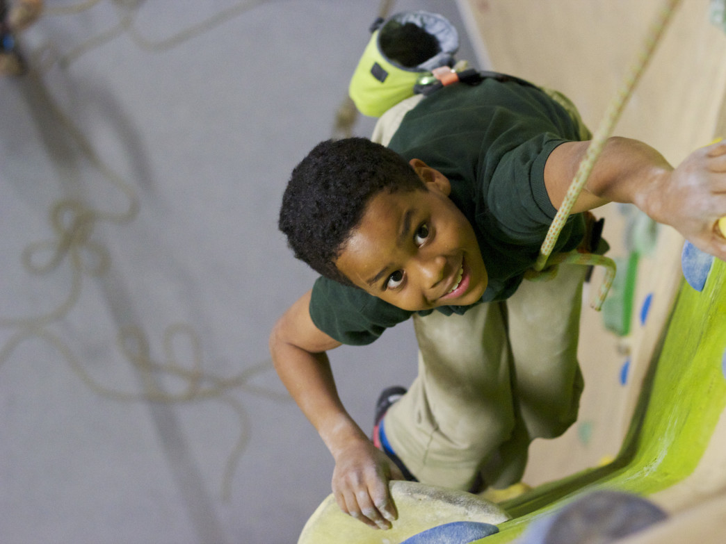Kids can reach new heights in climbing lessons.