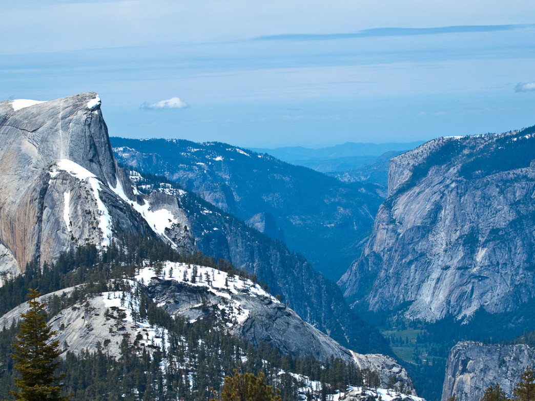 Half Dome as seen from the Cloud's Rest perch