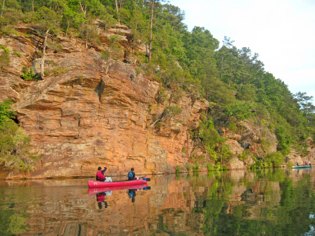 Cedar Cliffs are a highlight of paddling on Bull Sluice Lake.