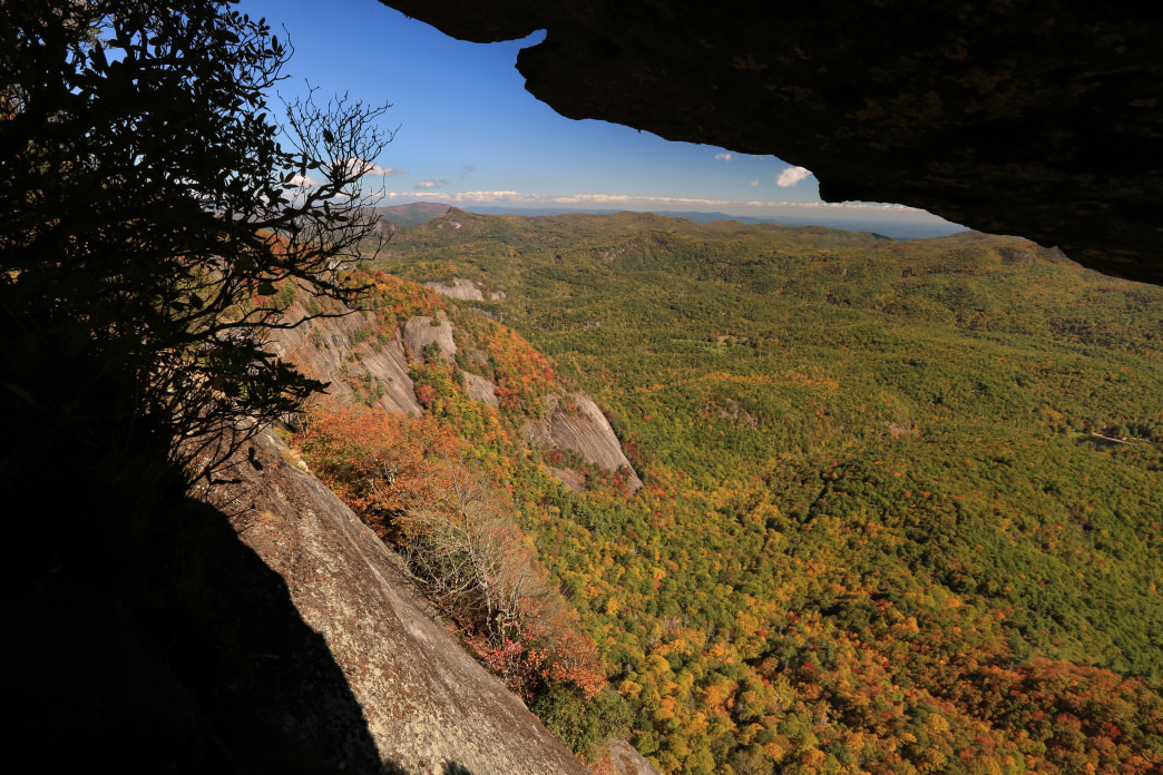 The summit of Whiteside Mountain is easily accessible and offers plenty of views.