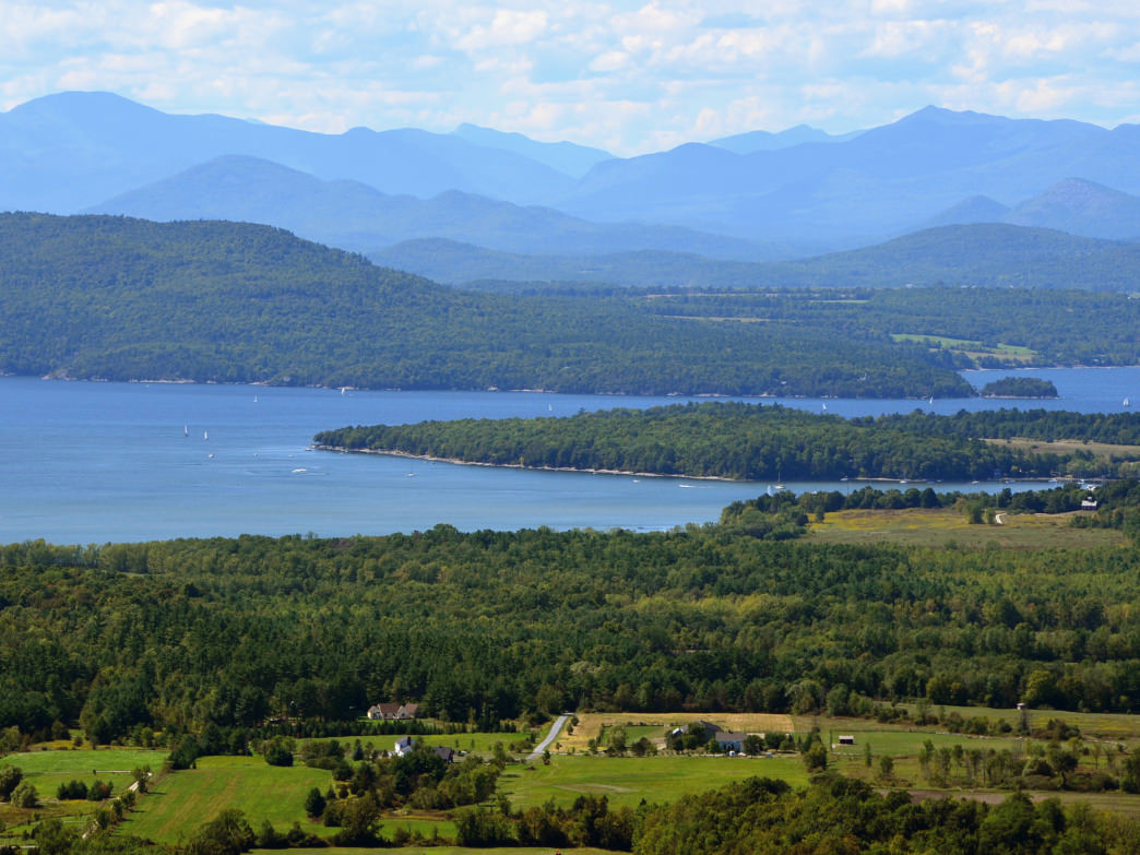 View from Mt. Philo State Park, Charlotte, VT.
