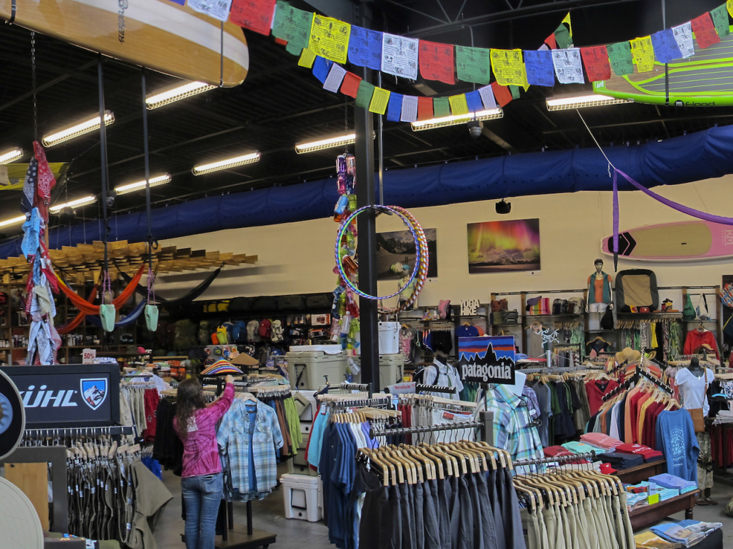 Mountain High offers a huge selection of gear for everything from paddling to backpacking and climbing.