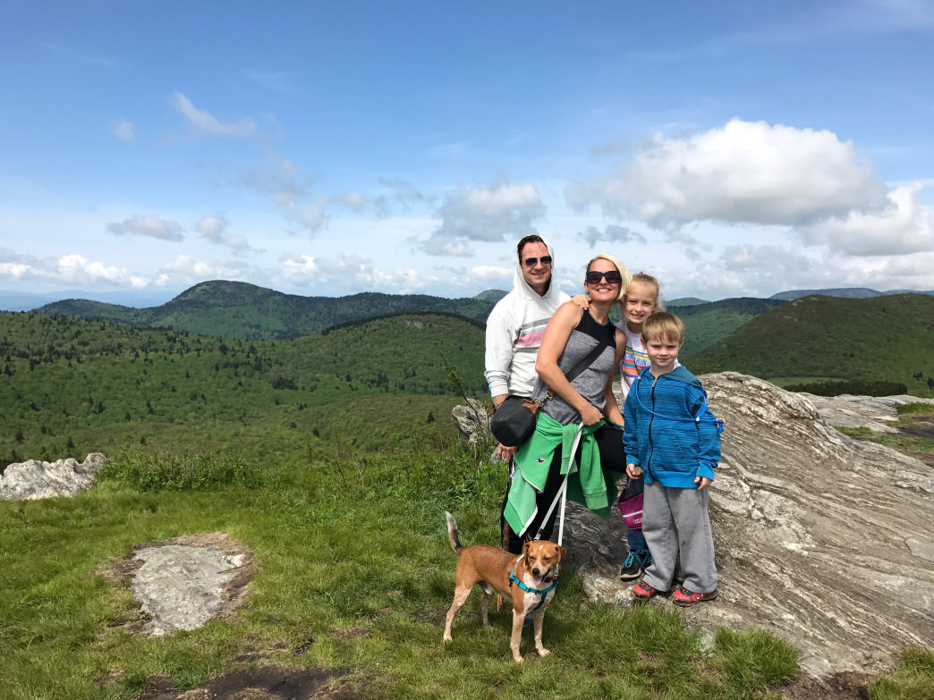 The views start early on the Black Balsam Trail, helping keep the whole family motivated.