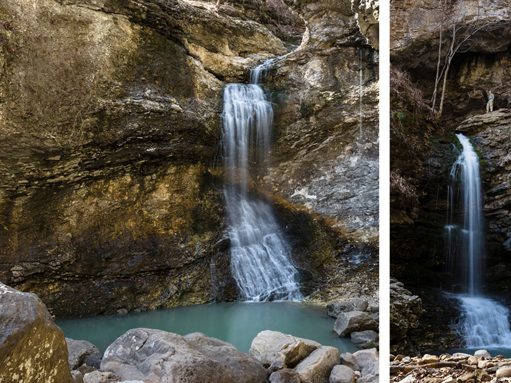 These two excellent waterfalls are the payoff at the end of the Lost Valley hike.