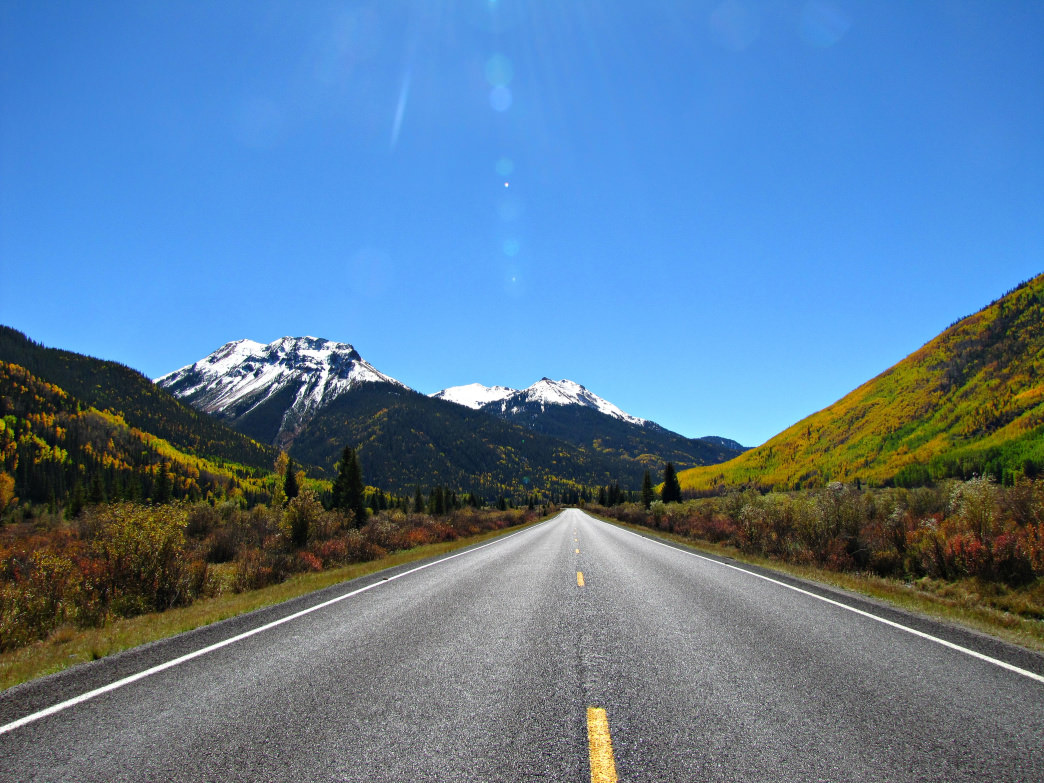 The Million Dollar Highway in in southwest Colorado is one of the state's must-do scenic drives.