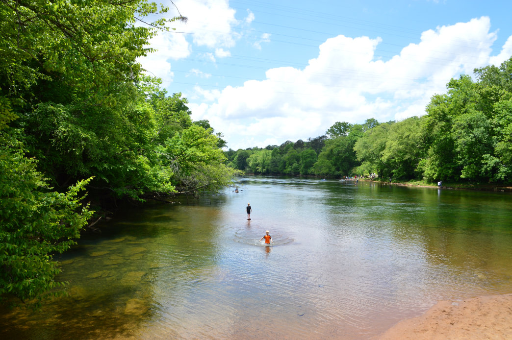 Lake Lanier features more than 680 miles of shoreline and 23 different beaches to explore.