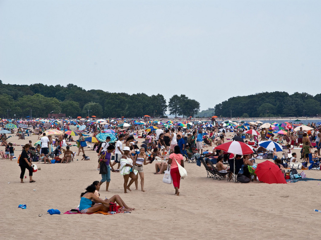 A hopping summer day at Orchard Beach in Pelham Bay Park
