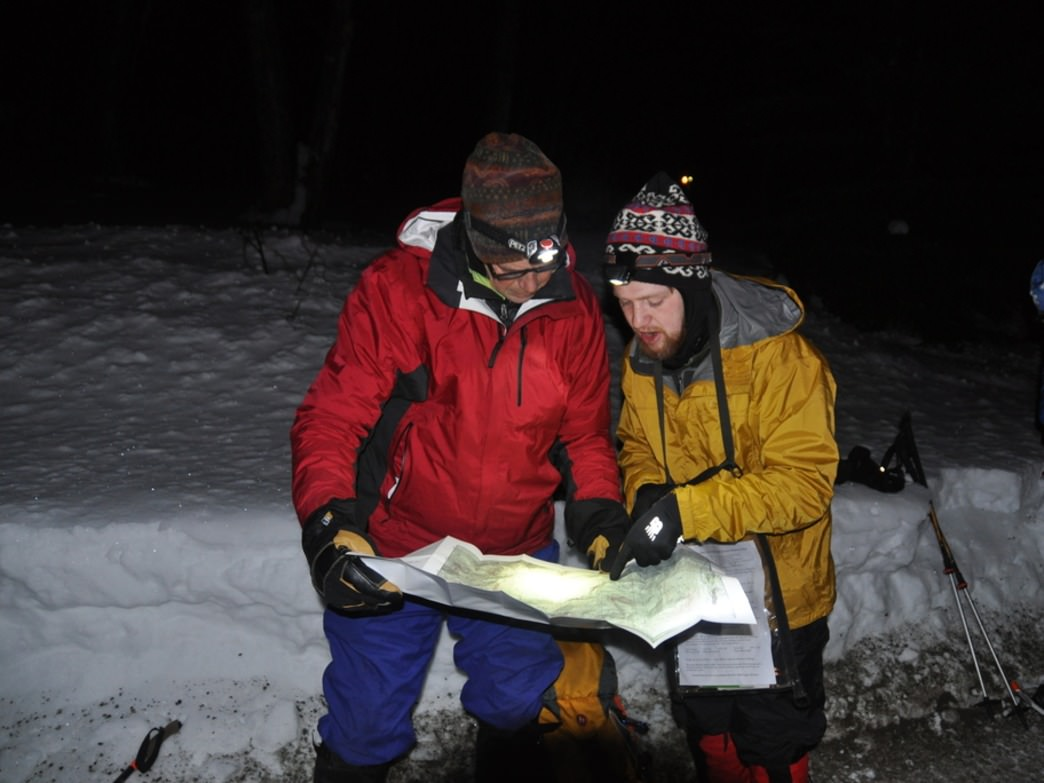 Navigation is this winter adventure race starts before the sun even rises.