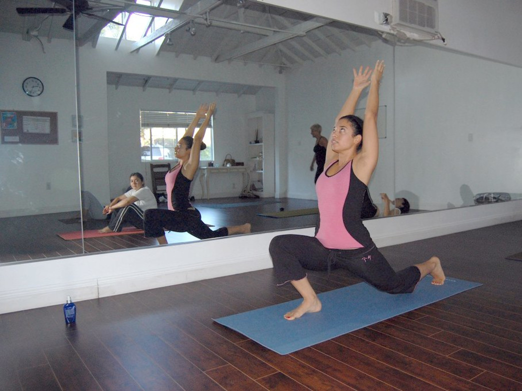 Crescent pose is an ideal complement for skiers and boarders.