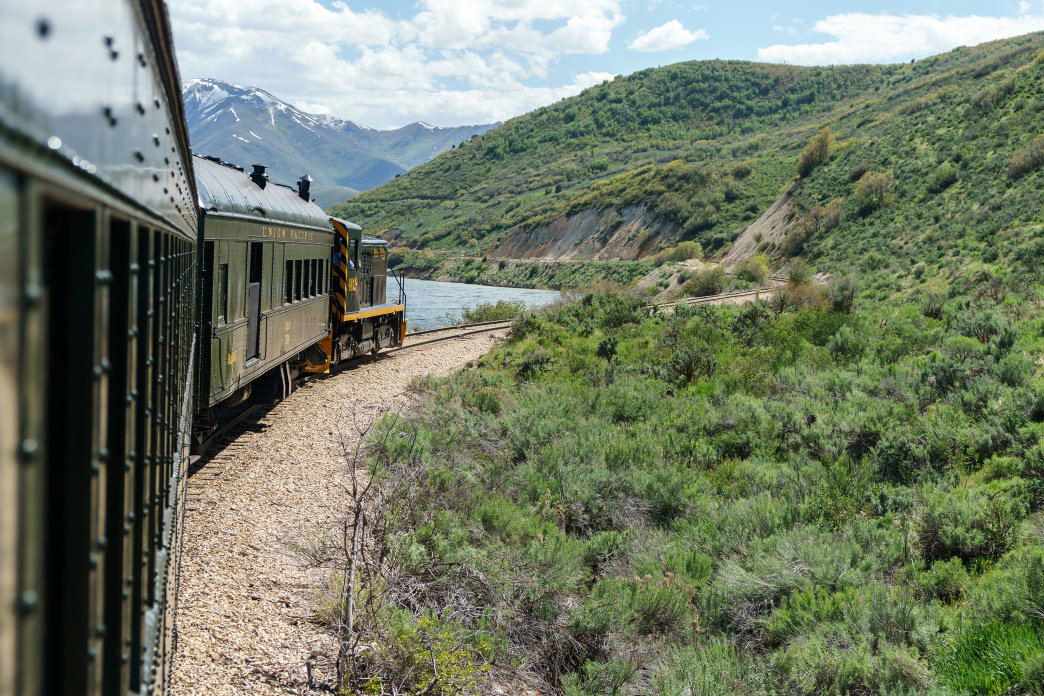 Take a relaxing ride on the historic Heber Valley Railroad.
