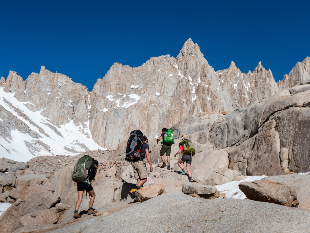 Entering the Mt. Whitney Zone en route to the summit.