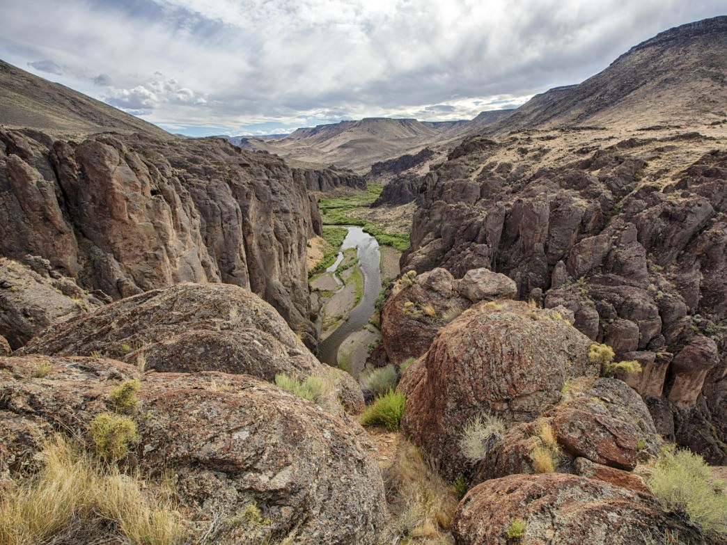Views like this are commonplace throughout the Owyhee Canyonlands.
