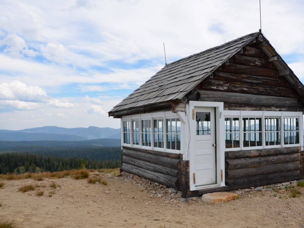 Historic Square Mountain Lookout is one of the highlights of driving in to trailheads of the Gospel Hump.