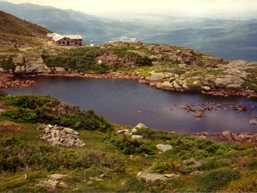 Vintage shot of the Lake of the Clouds Hut just below the summit of Mount Washington
