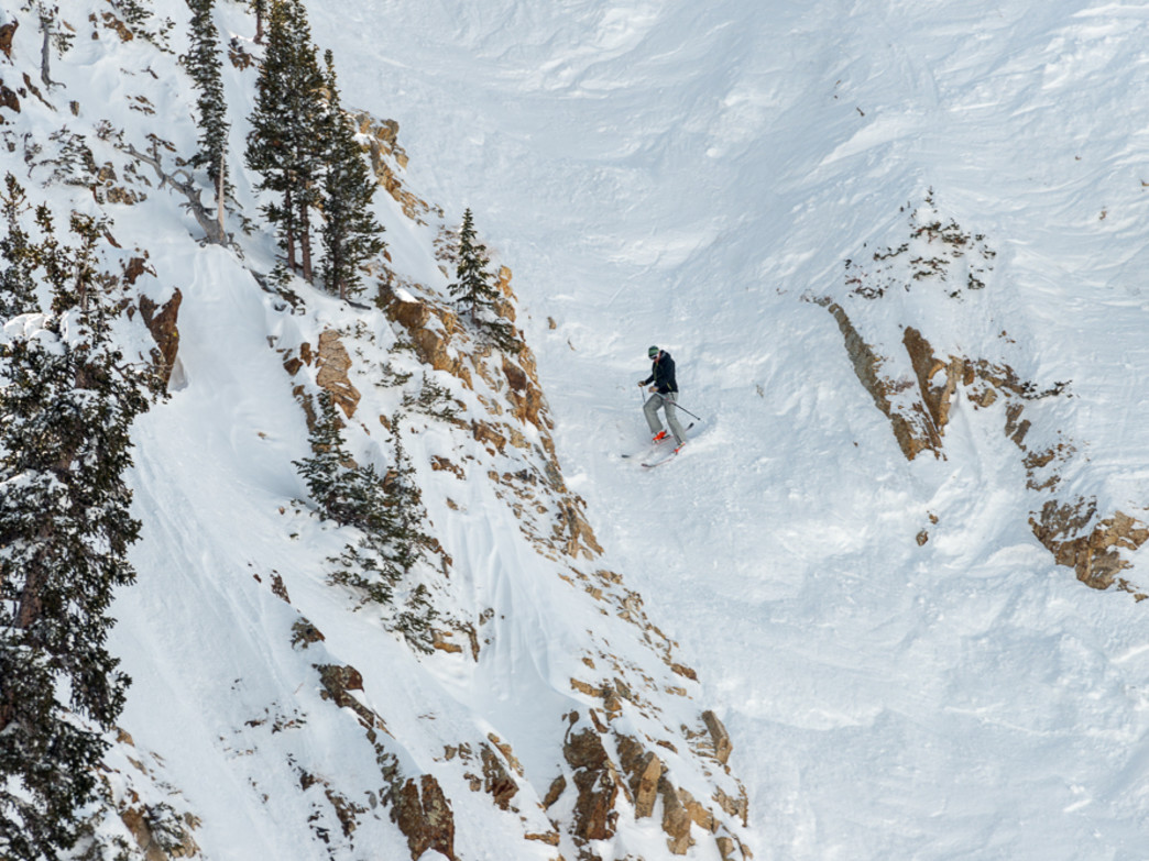 The aptly named Great Scott run at Snowbird is one of the scariest ski runs in the Wasatch.