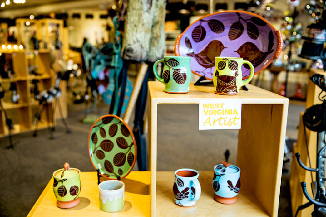 The shops are filled with products from local artists.     Kristi Godby