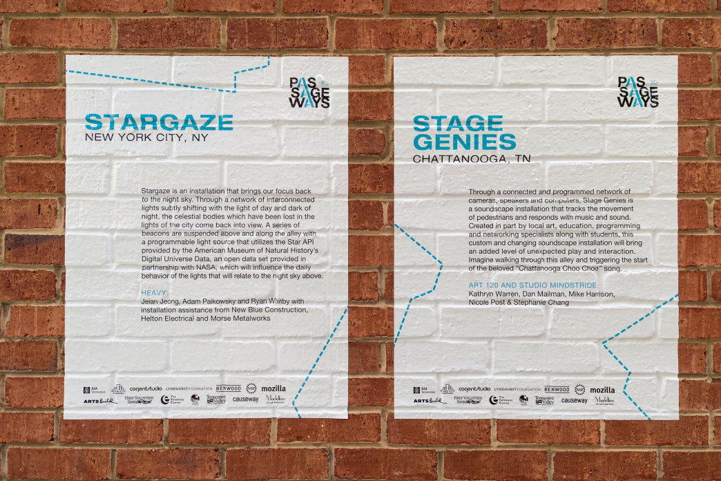 Stargaze and Stage Genies are two of the interactive Passageways you'll find along this run.