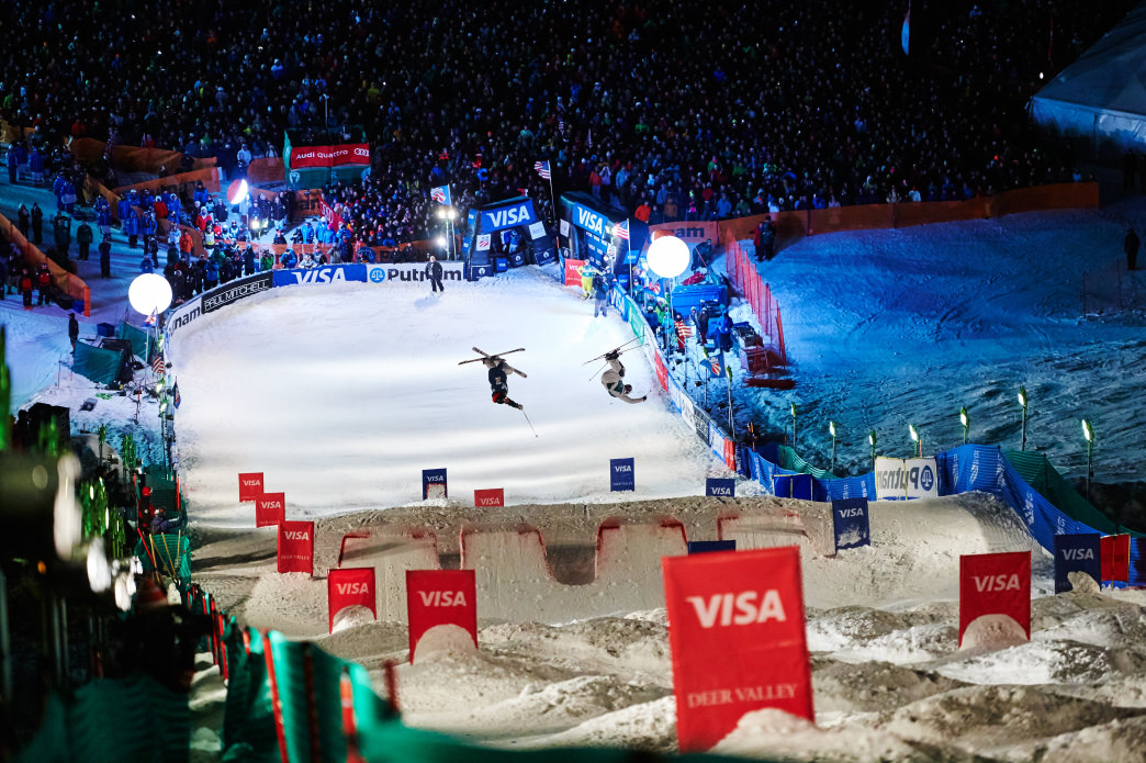 Last year more than 5,000 spectators watched the Freestyle Ski World Cup at Deer Valley Resort.