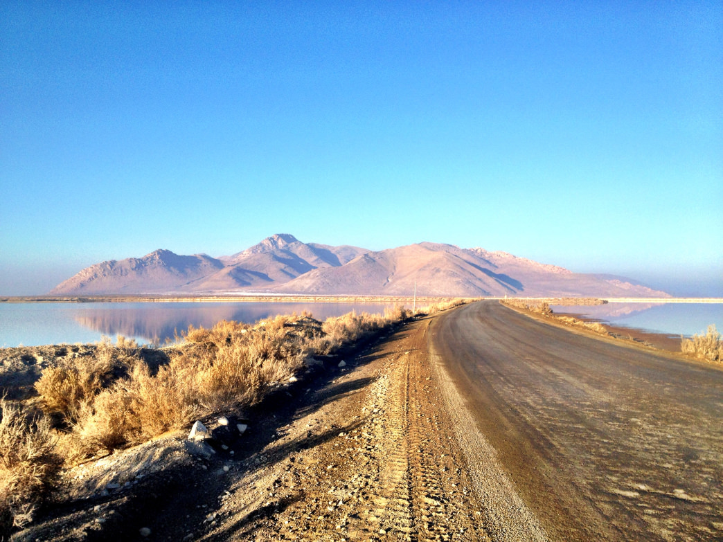 Stansbury Island is the second-largest island in the Great Salt Lake and has a technical 16-mile mountain bike trail.