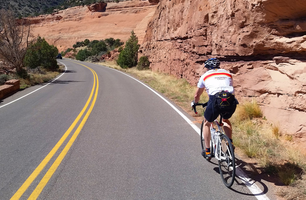 Hit the road in Colorado National Monument.<br />     Shaine Smith