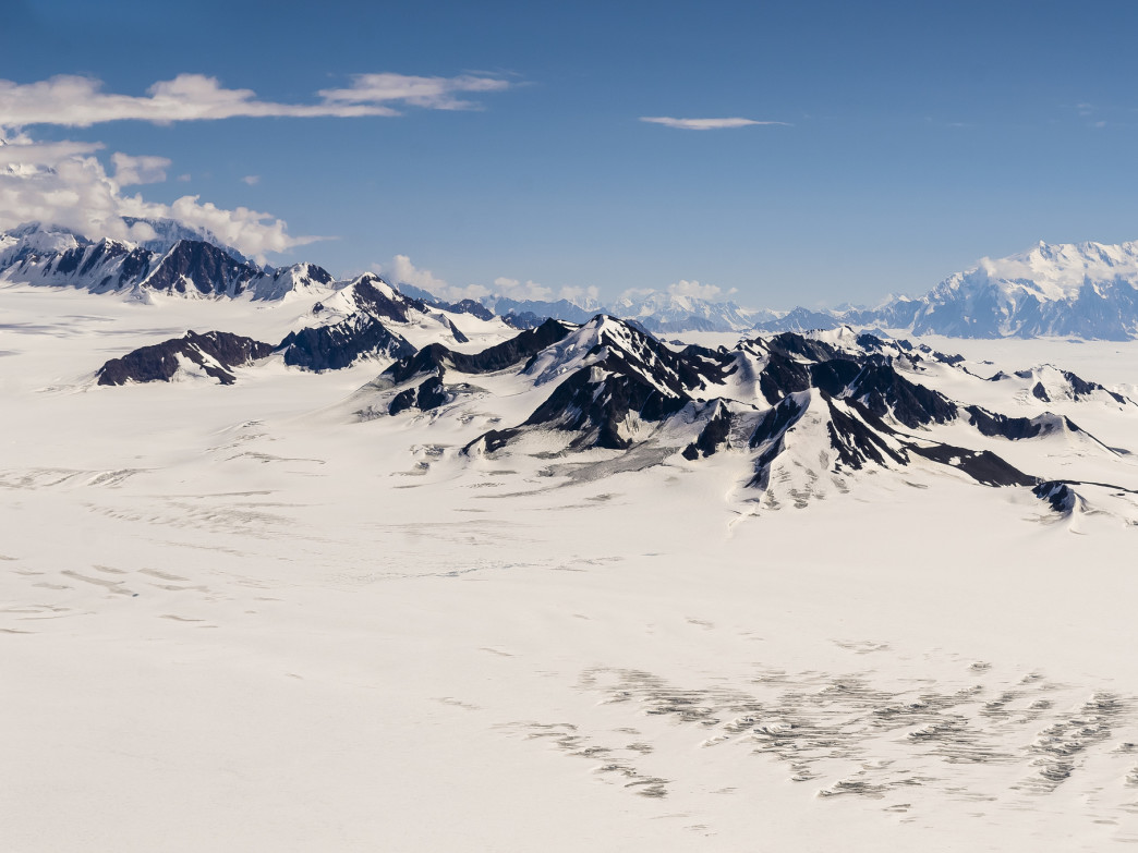 Nunataks in the St. Elias Range.