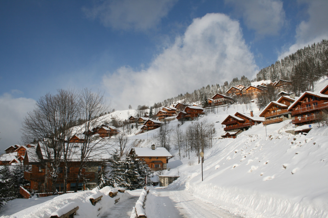 Meribel is popular with British tourists, and you can find a cozy pub that makes them feel right at home.<br />     Marc Lagneau