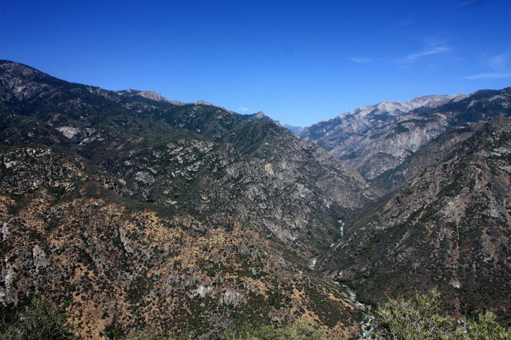 Canyon of the Middle Fork of the Kings River in Kings Canyon National Park.