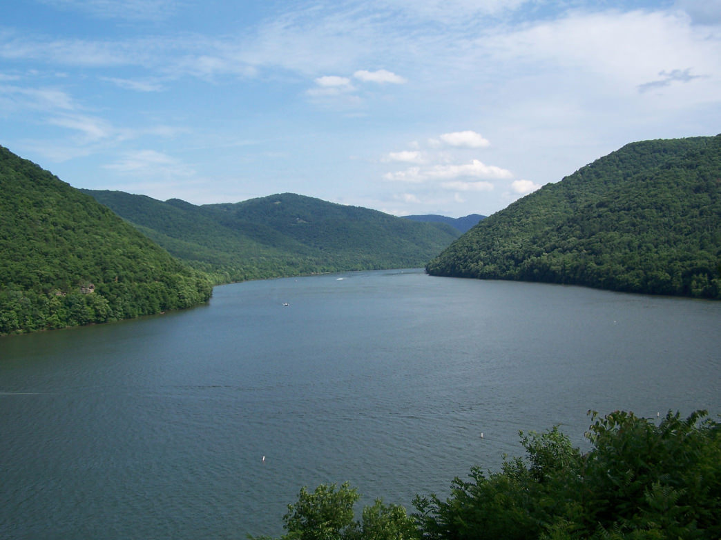 Bluestone Lake is West Virginia's third largest body of water and provides calm waters for paddlers year round.