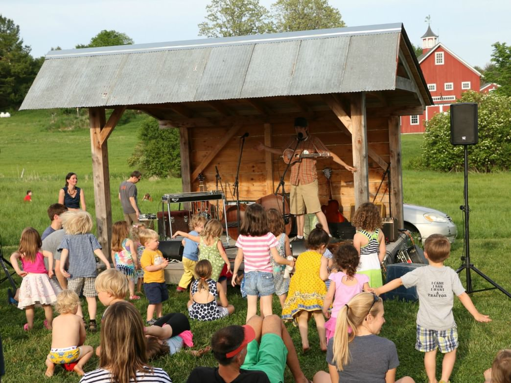 Getting the kids excited about music at Bread and Butter Farm