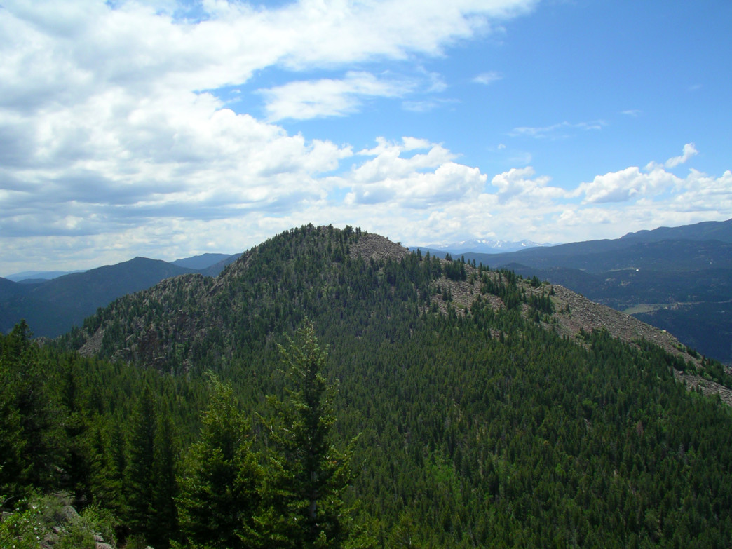 The summit of South Boulder Peak.