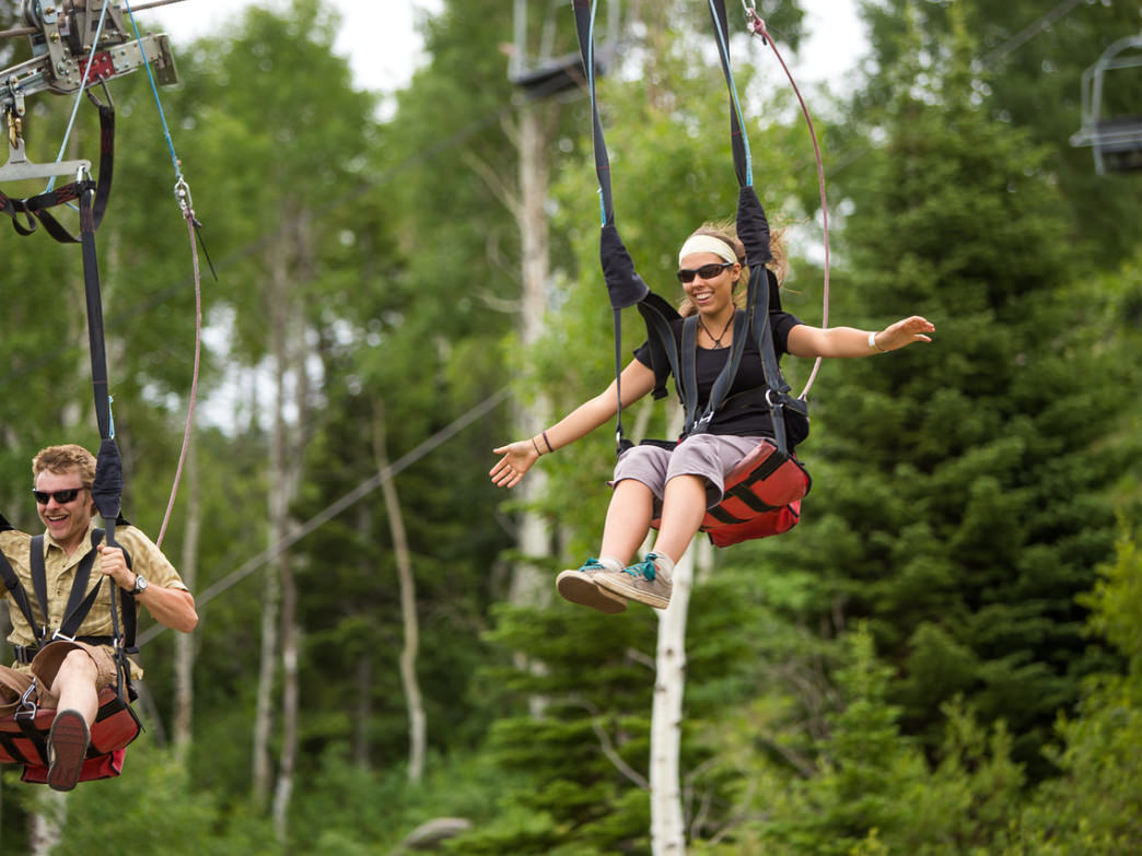 Ziplining is one of the more popular summer activities at Utah Olympic Park.